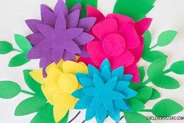 Paper Flowers   Paper Flower Template   Printable Flowers   Printable Flower Template