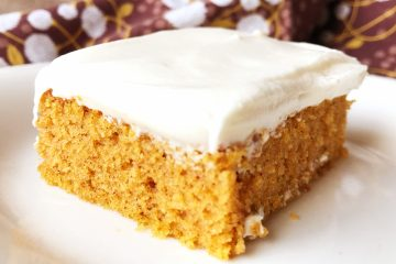 Pumpkin Bars | Sheet Cake Recipe | Fall Dessert | Sheet Cake Pan | Dessert for a Crowd | Fall | Autumn | Fall Desserts | Thanksgiving | Pumpkin Recipes | Pumpkin Dessert | Pumpkin Cake | Easy Dessert | Easy Recipe | Cream Cheese Frosting | Sheet Cake Pumpkin Bars on Six Clever Sisters!
