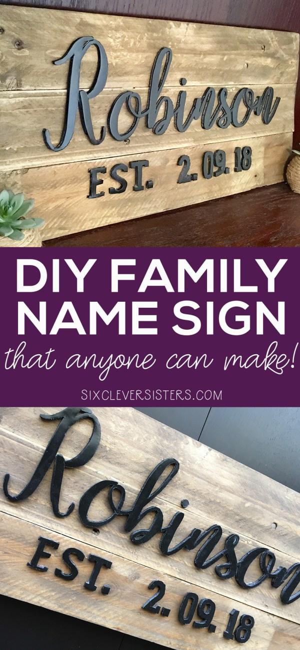 DIY family name sign |DIY family name wood signs |DIY family name established sign |DIY personalized family name signs | DIY wood family name sign |DIY family name plaque | DIY family name wall art