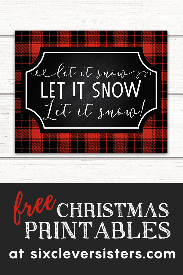 Free Christmas Printables Buffalo Plaid | Free Christmas Printables Red Buffalo Check | Free Christmas Printables | Free Christmas Printables Red and Black | Plaid Christmas Printables Free