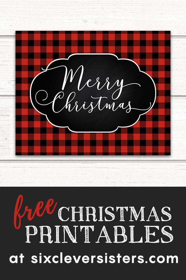 Free Christmas Printables Buffalo Plaid | Free Christmas Printables Red Buffalo Check | Free Christmas Printables | Free Christmas Printables Red and Black | Plaid Christmas Printables Free
