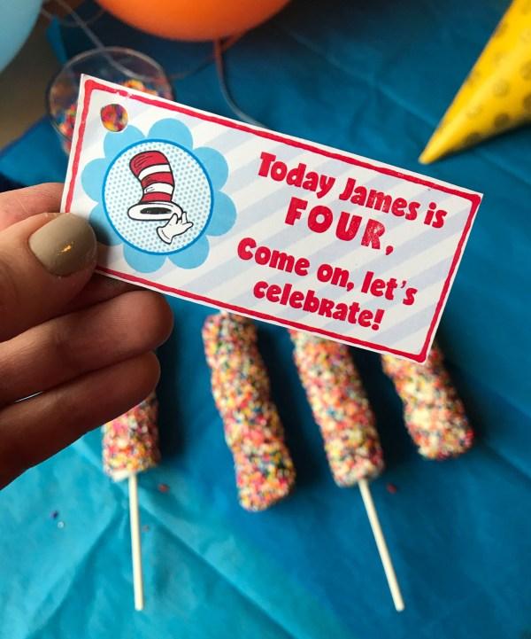 Sprinkle Marshmallow Pops | Marshmallow | Birthday Treats | Birthday | Kid Birthday | Marshmallow Pops | Marshmallow Treat | Birthday Treats to take to school | Birthday Treats for school | Birthday Treat | Sprinkle | Sprinkle Party | Sprinkle Cake | Party