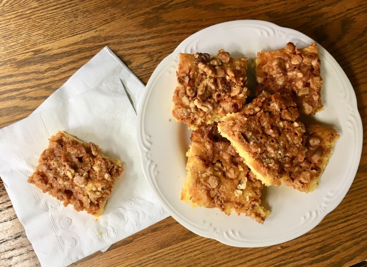 Butterscotch Sheet Cake | Butterscotch Bars | Butterscotch Lunchbox Cake | Butterscotch Recipes | Sheet Cake Recipes | Dessert Recipes | Potluck Dessert | Picnic Dessert | Six Clever Sisters