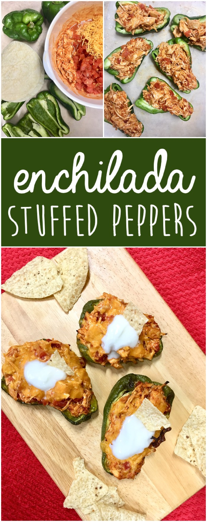 Enchilada Stuffed Peppers | Easy Dinner Ideas | Quick Dinner Recipes | Easy Dinner Recipes | Low Carb Recipes | Keto Diet | Stuffed Peppers | Mexican Food | Healthy Meals | Kid Friendly | Six Clever Sisters