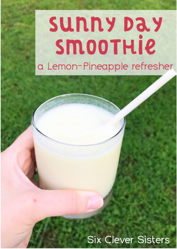 Smoothie | Lemon | Sunny Day Smoothie | Pineapple | Smoothie recipe | Smoothie Recipes Healthy | Smoothie Recipes | Smoothies | Fruit Drink | Fruit Smoothie | Summer | Tropical Smoothie |Six Clever Sisters