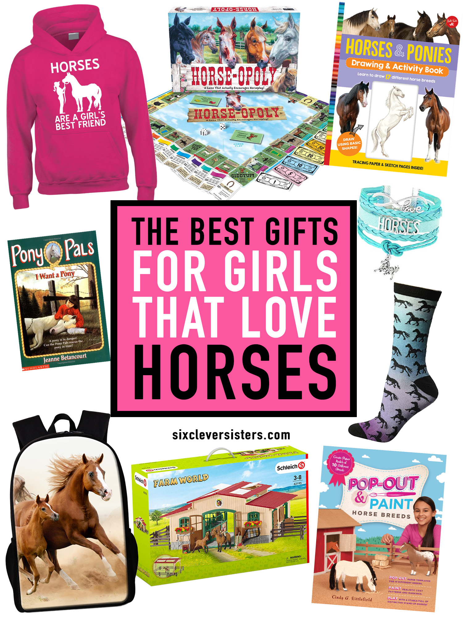 sackback gift for her present christmasgift horse, backpack Horse print rucksack backpack kids backpack