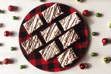 Peppermint Bark | Sheet Cake | Dessert for a Crowd | Peppermint | Candy Cane | Chocolate | Cake | Peppermint Cake | Christmas Dessert | Christmas Treat | Holiday | Easy Recipe | Easy Dessert | Candy Cane Dessert | Six Clever Sisters