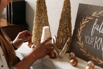 Diy Christmas Decor | DIY Christmas Decorations | DIY Christmas Decor Ideas | Diy Christmas Crafts | Christmas Crafts DIY | Christmas Crafts Diy Decoration | Yarn Trees | Yarn Trees DIY | Yarn Trees Christmas | This easy, diy Christmas craft added some festive, holiday decor to my home. It's an easy diy project that can be made in no time at all! #diy #diychristmas #diycrafts #christmas #christmascrafts #christmastree #craft