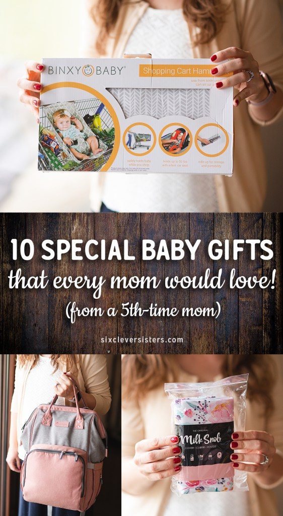 Special Baby Gifts | Special Baby Gifts Ideas | Baby Gifts Ideas | Special Baby Gift Ideas that every mom would love! Check out our favorite ones on the Six Clever Sisters blog!