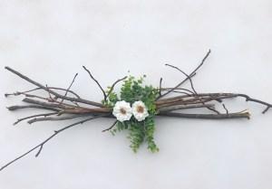 Easy DIY Rustic Centerpiece   Wedding   Chic Wedding   Rustic   Farmhouse   Floral and Greenery   Centerpiece Idea   DIY Centerpiece   Easy Decor   Rustic Decor   Thrifty Wedding   Thrifty Decor   Cheap DIY   Branches Centerpiece   Floral Wedding   Greenery  
