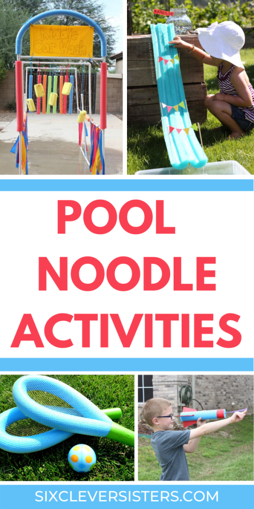 Pool Noodle Activities | Outdoor Activities | Outdoor Activities for Kids at Home | Pool Noodle Ideas | Pool Noodle Crafts | Pool Noodle Games | Pool Noodle Games for Kids | Pool Noodle Games Outdoor | If you're looking for some great summer activities to keep the kids occupied this summer, these fun pool noodle games and ideas are so cool (some quite literally!) and will keep them entertained. Plus, they are cheap to make when you use pool noodles from the dollar store! These fun ideas will create loads of outdoor fun for the kids!#outdoor#kidsactivities#outside#activitiesforkids#backyard#diy #poolnoodle #summer #games