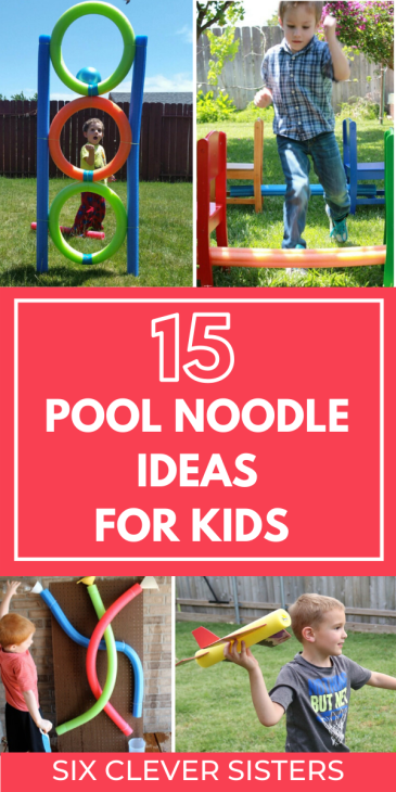 Pool Noodle Activities | Outdoor Activities | Outdoor Activities for Kids at Home | Pool Noodle Ideas | Pool Noodle Crafts | Pool Noodle Games | Pool Noodle Games for Kids | Pool Noodle Games Outdoor | If you're looking for some great summer activities to keep the kids occupied this summer, these fun pool noodle games and ideas are so cool (some quite literally!) and will keep them entertained. Plus, they are cheap to make when you use pool noodles from the dollar store! These fun ideas will create loads of outdoor fun for the kids! #outdoor #kidsactivities #outside #activitiesforkids #backyard #diy #poolnoodle #summer #games
