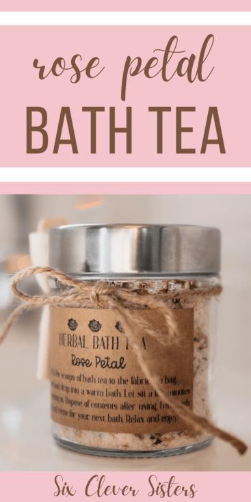 DIY Bath Tea {relax and de-stress!} Pinterest_1