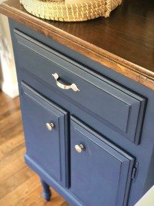 Coffee Bar   Furniture Renovation   DIY Coffee Bar   Coffee Bar Transformation   DIY Home Decor   DIY Beverage Bar   DIY Decor   Repurposed Furniture Project   Weekend Project   Check out my post on SixCleverSisters.com to find out how I transformed a small table into a beautiful coffee bar!