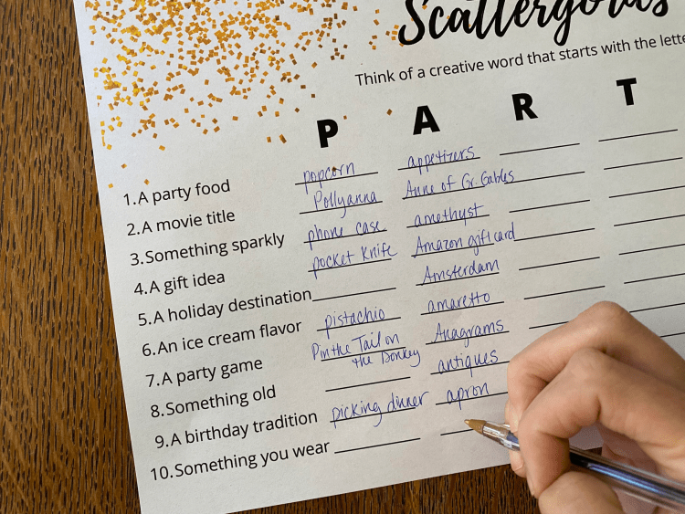 Birthday Game | Birthday Game Ideas | Birthday Game Activities | Free Printable Birthday Games | Printable Birthday Game | Free Printable Birthday Games for Adults | This fun, free printable birthday game is a great birthday activity! Download the free printable birthday game and have ready for your next birthday party! #birthday #freeprintable #printables #game #scattergories #ideas #fun #activities