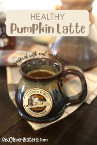 Latte | Coffee | Pumpkin Spice Latte | PSL | Pumpkin Latte | Easy Coffee Recipe | Homemade PSL | Homemade Latte | This yummy and healthy latte recipe can be found at SixCleverSisters.com