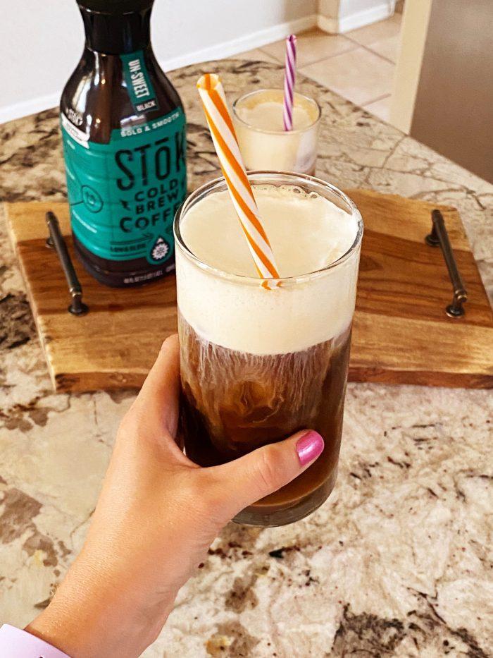 Cold Foam | Cold Foam At Home | Cold Foam Recipe | Cold Foam Recipe at Home | Best Cold Foam Recipe | Cold Foam Coffee Recipe | Did you know you can use coffee creamer to make cold foam at home? With store bought coffee creamer, the options of cold foam flavors are endless! #coffee #drinks #coldbrew #recipe #recipeoftheday #coffeerecipe