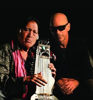 L-R: Ustad Sultan Khan & Warren Cuccurullo
