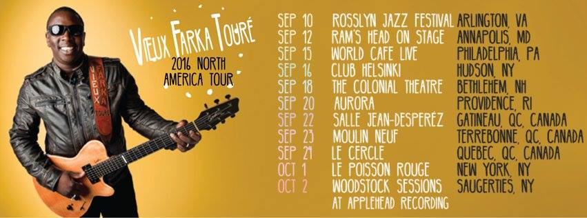 View Faka Touré to announce North America Fall Tour