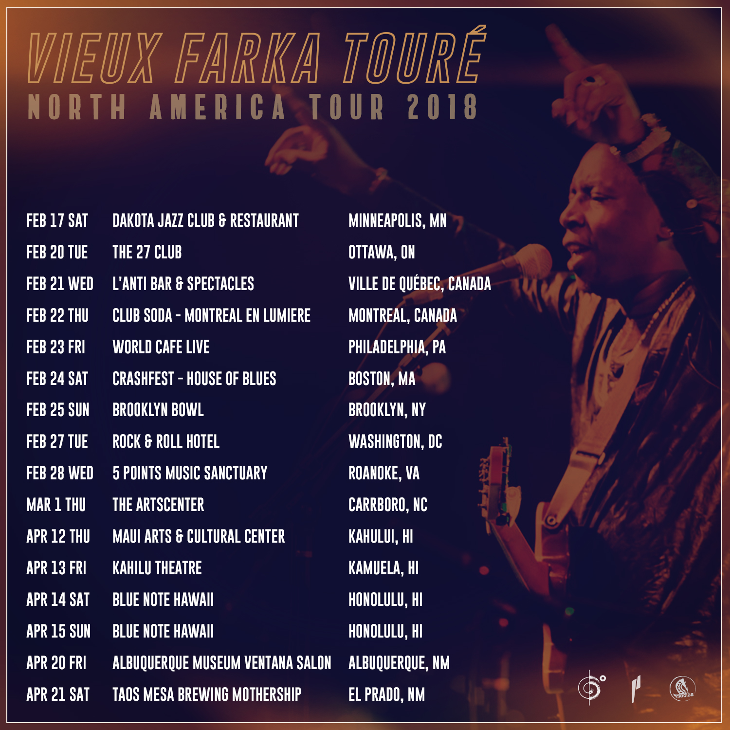 Vieux Farka Touré announces North America 2018 Tour