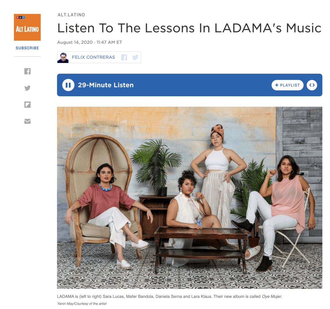 FROM NPR'S ALT LATINO: Listen To The Lessons In LADAMA's Music