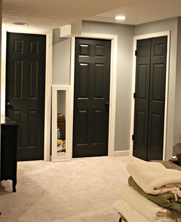 Black Interior Doors Six Different Ways