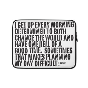 Morning Goals Laptop Sleeve
