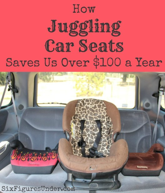 How Juggling Car Seats Saves Us over $100 a Year