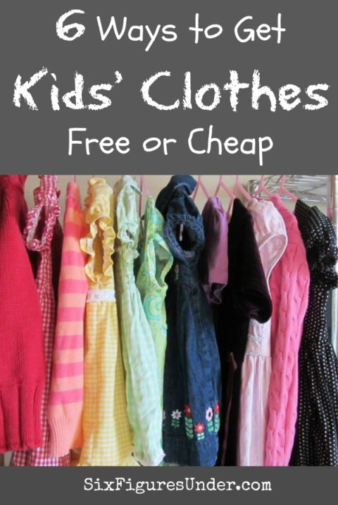 f8d4d8dec 6 Ways to Get Kids' Clothes for Free or Cheap - Six Figures Under