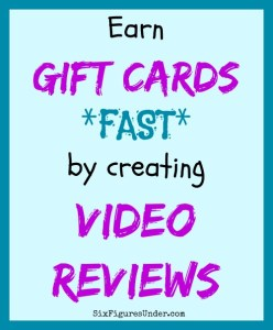 Create Video Reviews and Earn Gift Cards