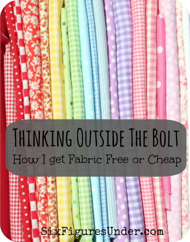 Thinking Outside the Bolt  How I Get Fabric Free or Cheap - Six Figures  Under b3bb2098a816e