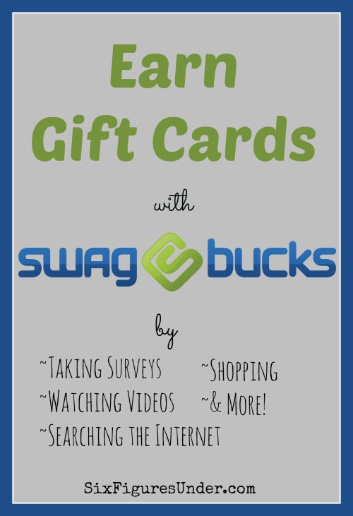 With Swagbucks you can earn Amazon gift cards for doing things you're already doing online!