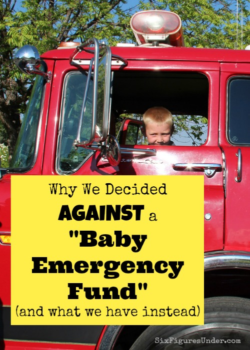 Why We Decided AGAINST a Baby Emergency Fund... And what we have instead.