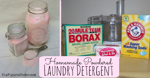 Homemade laundry detergent with Zote soap