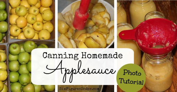 Canning Homemade Applesauce Easy Photo Tutorial