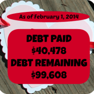 January 2014– Debt Repayment Progress Report