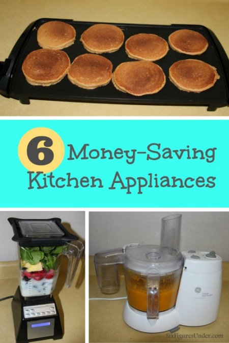 Some people equate thrifty with minimalist. While some people avoid kitchen appliances that take up space and only perform one function, we have found that many of those kitchen appliances save us money. They are worth their space in gold!