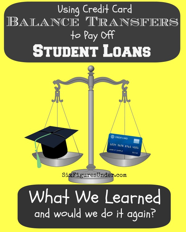We used a credit card balance transfer to pay off $11,000 of federal student loans. Would we do it again? Here's what we learned from our experience.