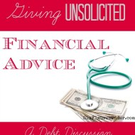 Giving Unsolicited Financial Advice