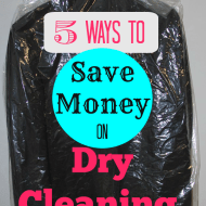 5 Ways to Save Money on Dry Cleaning