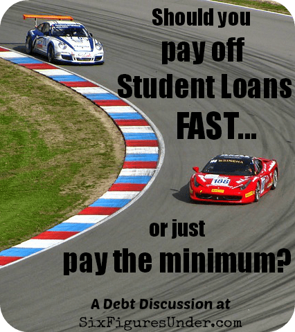Should you pay off student loans fast or invest? Here are some pros and cons of paying off student loans quickly or sticking with the minimum payment. Of course it's personal. What's your preference?