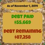 debt payoff stats nov 1 2014