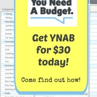 Get YNAB for $30– For Yourself or as a Gift!