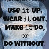 Make it Do– Frugal Fresh Start- Day 17
