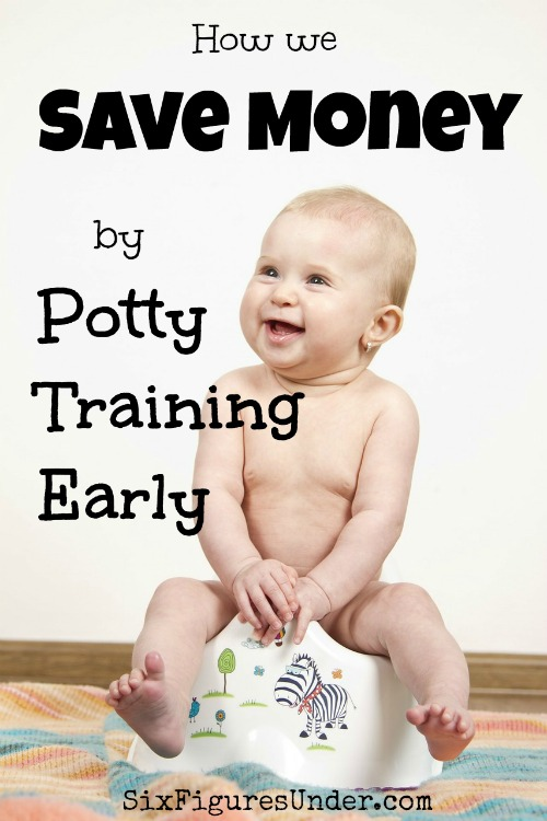 Potty training early is convenient and it saves LOTS of money! It's probably easier than you think!