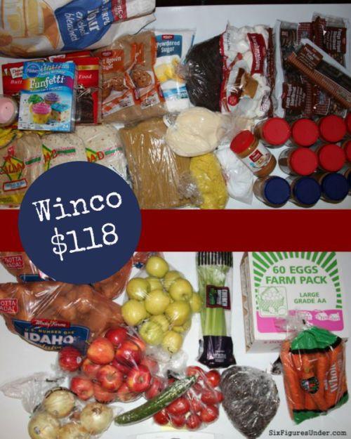 winco grocery trip