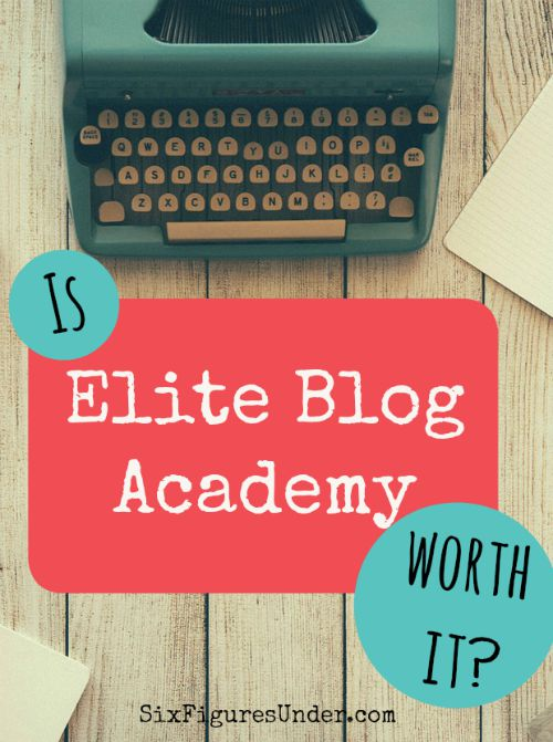 I was hesitant to sign up for a couple of reasons. If you are wondering if Elite Blog Academy is worth it, I hope my review will help you decide if it's right for you.