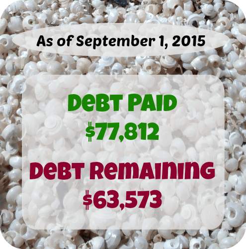 At Six Figures Under, we make our personal finances public. Here's a detailed report of our debt repayment and what we earn and spent in August.