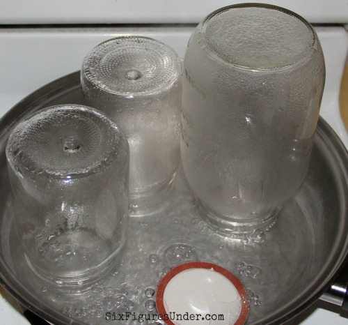 Be sure to prepare your jars by sterilizing them.