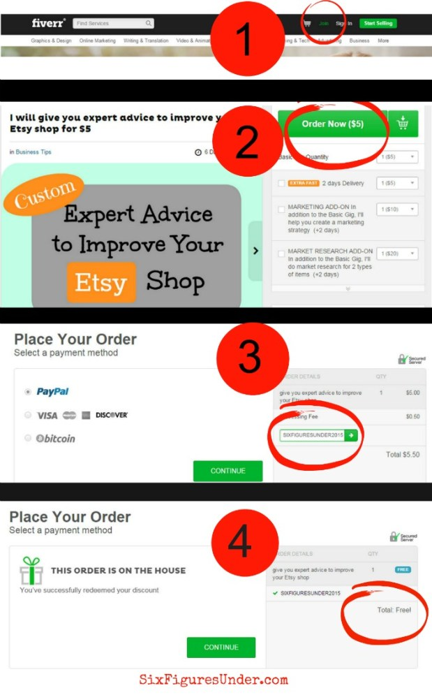 How to get a Fiverr gig for FREE. Totally worth the money, but you can't beat free. Here are the details!